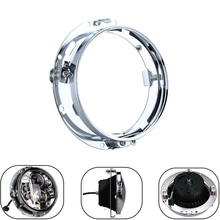 7 inch Motorcycle Round Headlight Mounting Bracket Ring Pedestal Lamp Support Ring For Harley Touring Softail Fatboy Dyna