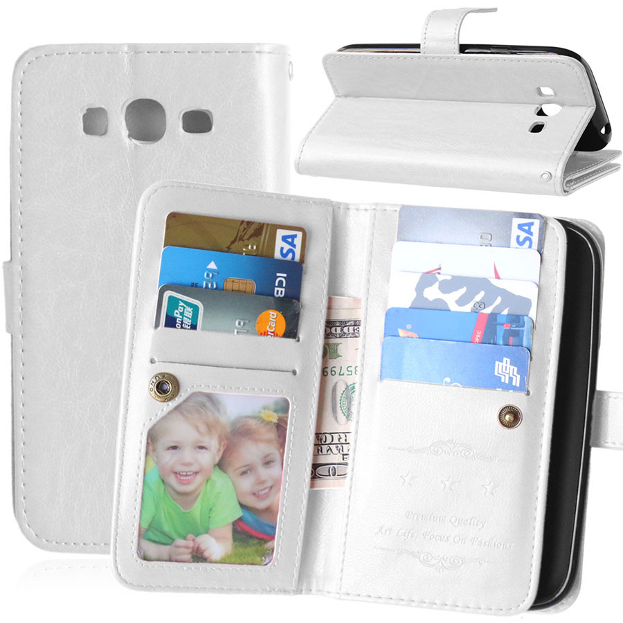 Vintage Wallet Leather Case Cover For Samsung Galaxy Grand Duos Neo Plus I9060 I9082 With Stand Card Holder Flip Style