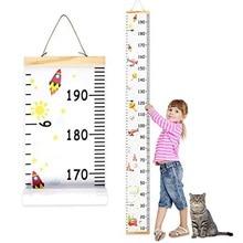 Съемный ракетный график роста детей Детский рулонный деревянный каркас холст настенный подвешивание высота линейка Настенный декор домашний декор