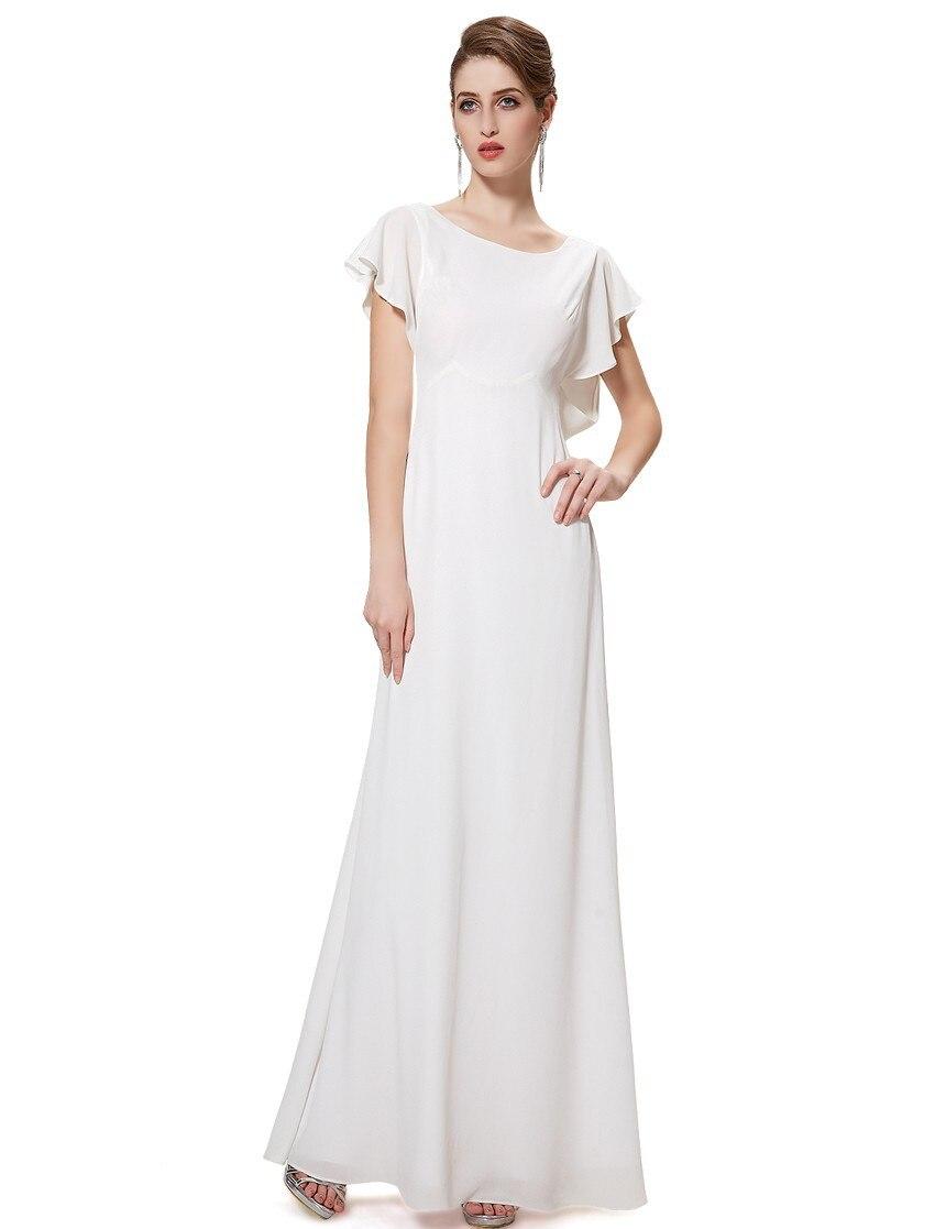Livraison Gratuite 2018 Nouvelle Arrivée Élégant Col Rond Longue Remise Élégant Casual soirée robe mère de la mariée robes