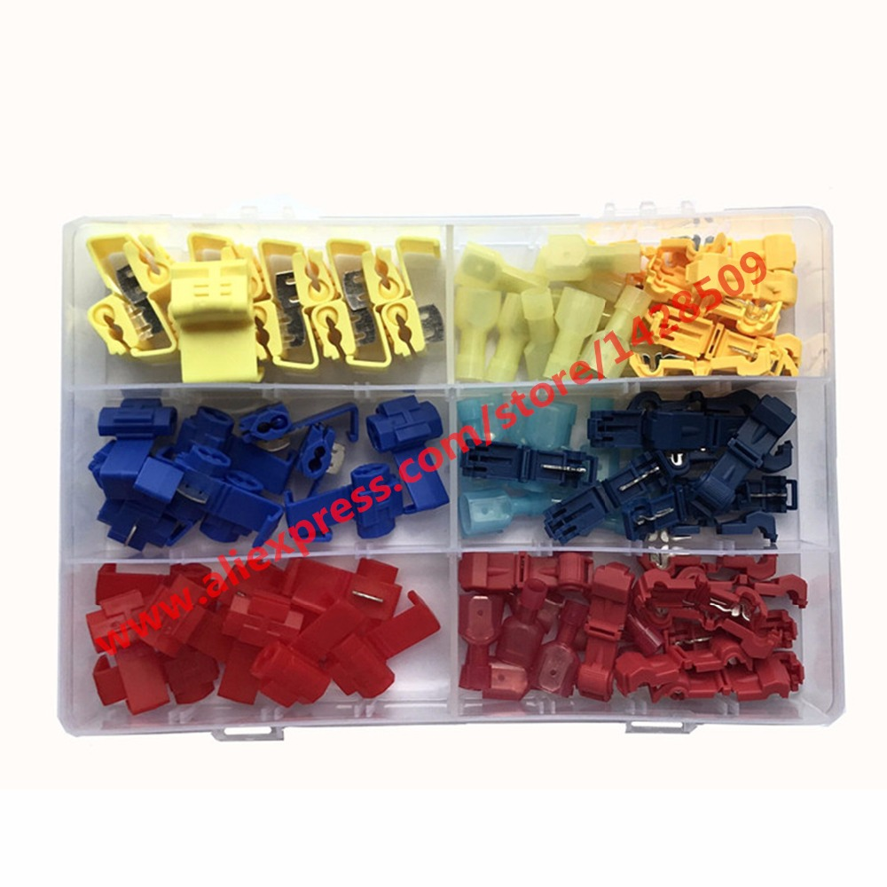 multi-packed Wire Cable Connectors Terminals Crimp Scotch Lock Quick Splice Electrical T style connection terminal ...