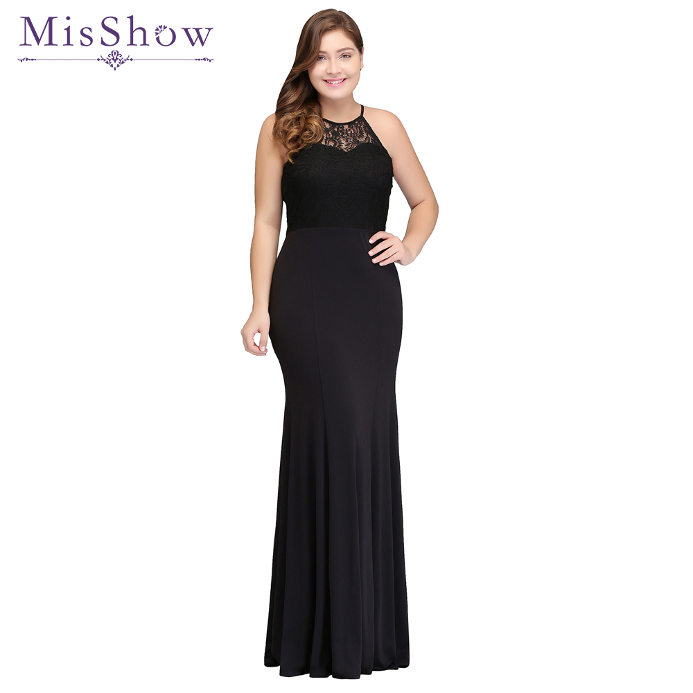 New Plus size   Evening     Dress   2019 Women cheap backless Mother of the bride   dresses   Long Black Mermaid Formal   Evening   Gown   Dresses