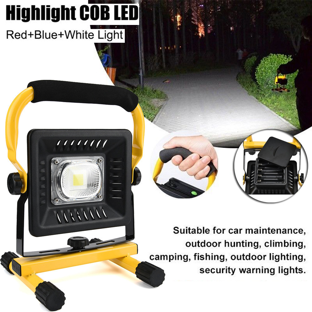 New Bright 50W 2400LM Portable COB High Power Slim Light Rechargeable Flood Light Camping emergency Repair waterproof durable