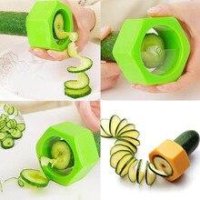 Useful Random Color New Smart Creative Spiral Slicer Cucumber Melon Salad Kitchen Tool