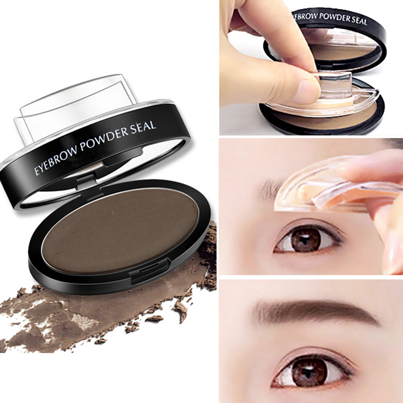 Waterproof Eye Brow Stamp Powder Perfect Eyebrow Power Seal Nature