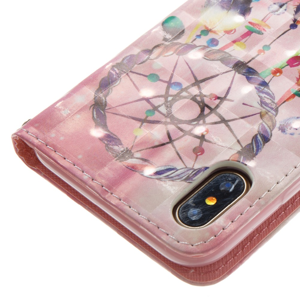 PU Leather Soft Case For iPhone 5 6 7 8 plus X Flip Cover Pattern Wallet Case with Stand Function Card Slots Magnetic Closure