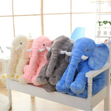 Hot! 50x60cm Stuffed Animal Cushion Kids Baby Sleeping Soft Pillow Toy Cute Elephant New Sale