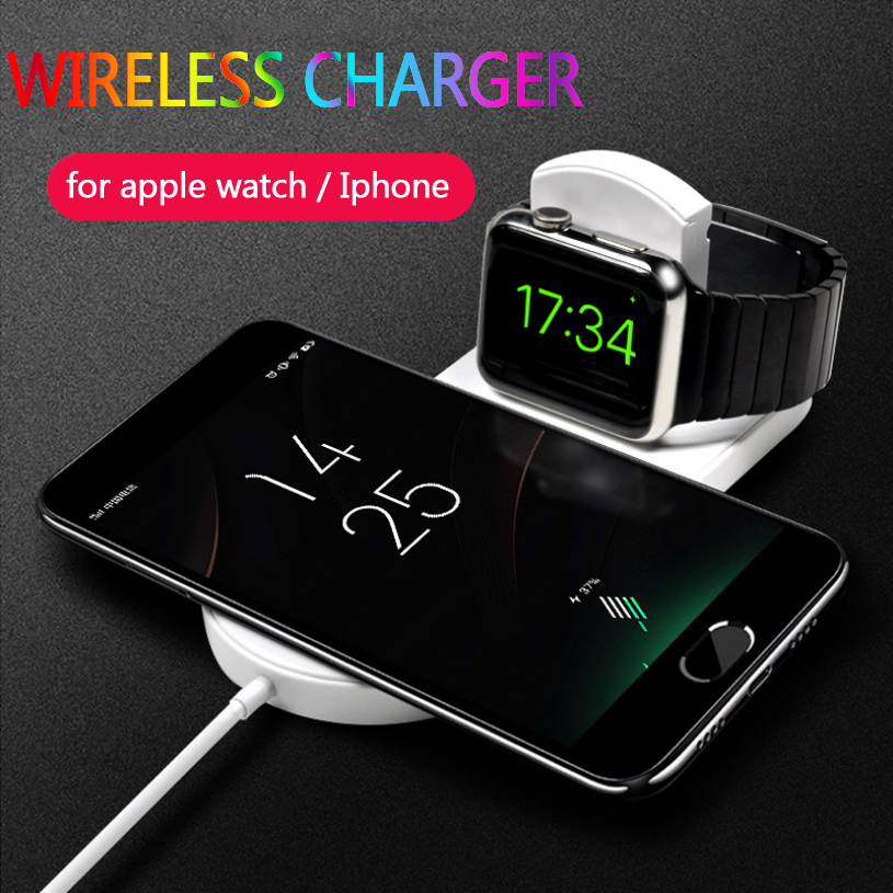 2 in 1 Wireless Charger for Apple Watch Iphone X 8 8 plus Samsung support 7.5w Fast Charging Dock Station for iwatch series 3/2