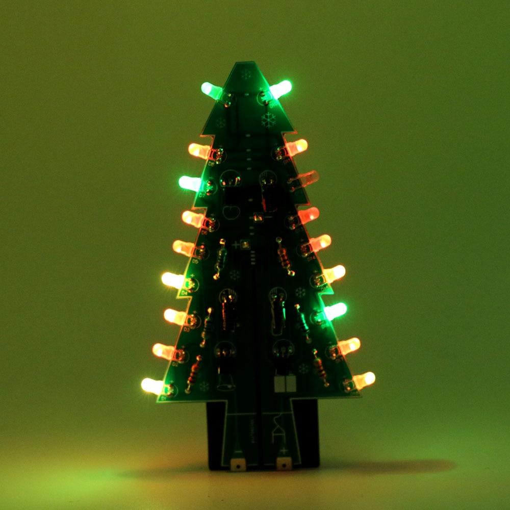 Colorful RGB Christmas Trees LED DIY Kit Flash LED Circuit Kit ...