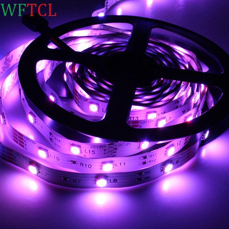 DC12V SMD 5050 Светодиодные полосы света 30 LED/M 5 м Гибкие светодиодные ленты, ленты, rgb, крытый decoartion огни
