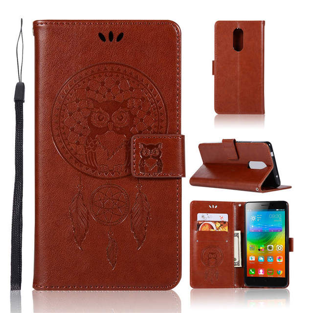 info for e8d17 d58de US $4.79 20% OFF|Embossed Owl Bird Campanula PU Leather Flip cover case for  Lenovo K6 K6 Power Magnetic Snap Wallet case for Lenovo K6 Note-in Fitted  ...