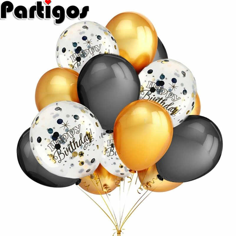 20pcs/lot 10inch 1.5g Pearl Gold Silver Black Latex Balloons Birthday Wedding Valentine's Day Party Decor Air Ball Wholesale