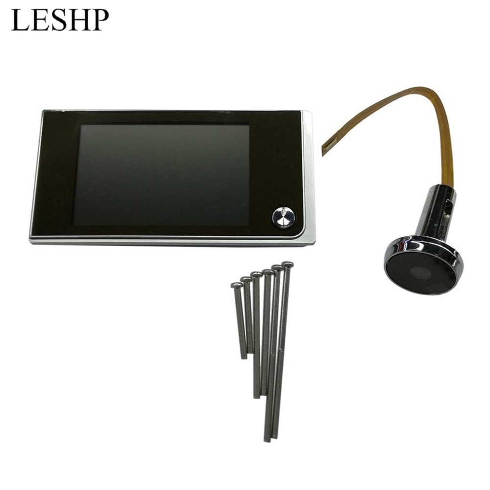 LESHP Multifunction Home Security 3.5inch LCD Color Digital Peephole Viewer TFT Memory Door Eye Doorbell Color Camera Top Sale x5 home smart doorbell security door peephole camera electronic cat eye and hd pixels tft color screen display audio door bell