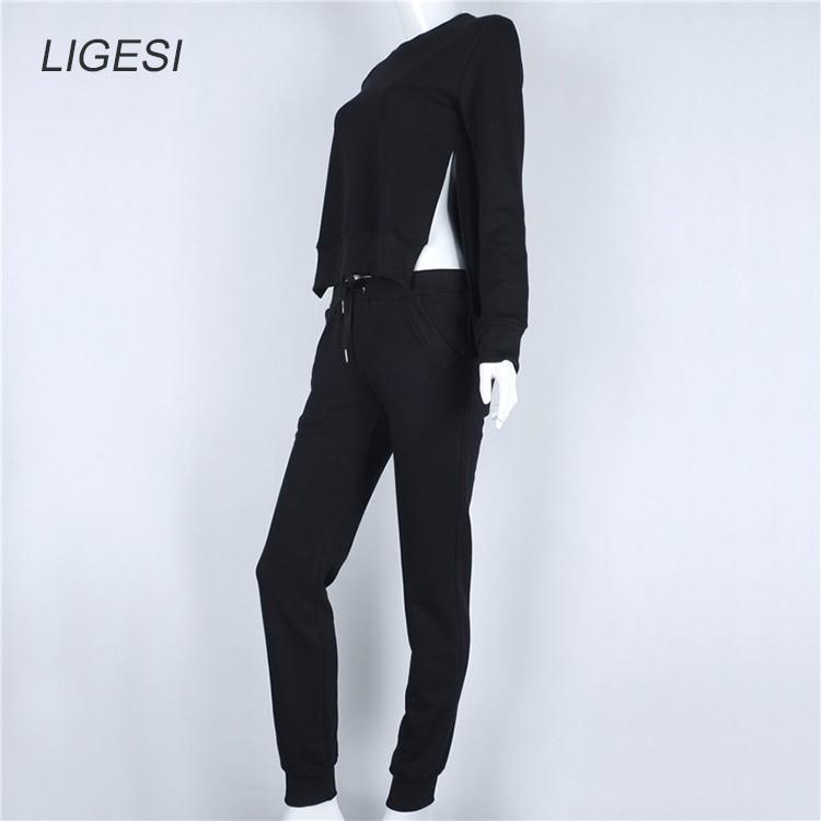 Women's Cotton Tracksuit, 2 Piece Set, Sportswear Suit, Women's Irregular Tracksuit 24