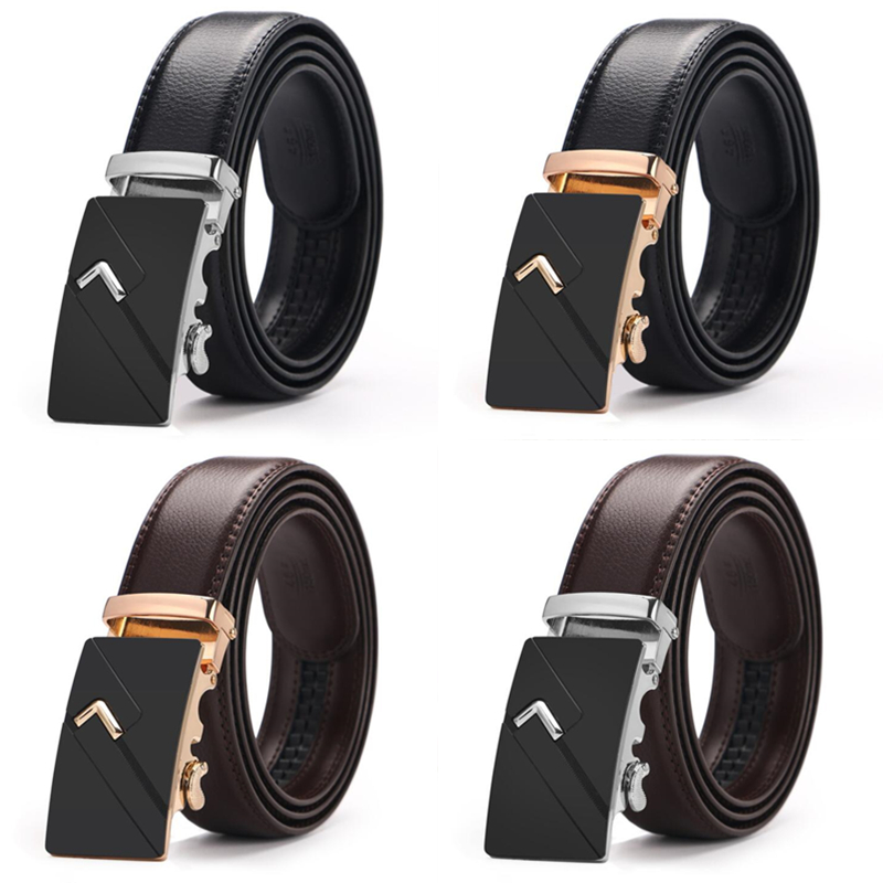 Hot selling Men   belt   fashion pu Alloy Automatic buckle   belt   business affairs casual decoration   belt   men's   belts   3.5cm