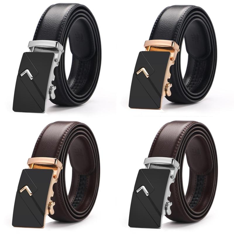 Hot selling Men   belt   fashion pu Alloy Automatic buckle   belt   business affairs casual decoration   belt   men's   belts   3.5cm