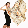 Classic 100%silk square women Scarf gold stamp animal print lady's scarves&shawls large size Female wholesale price
