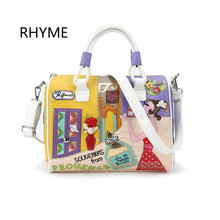 RHYME Women Appliques Handbag Braccialini Style Shoulder Bag Di Marca Bolsa Feminina Luxury Top-Handbags Famous Brand Tote