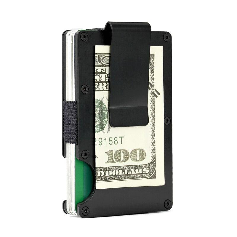 Buy RFID Metal Minimalist Wallet Small Card ID Holders Man Business ...