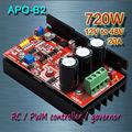 Free shipping ,  APO-B2  DC brush motor   PWM controller + RC + speed controller   720W(MAX)/12V-48V