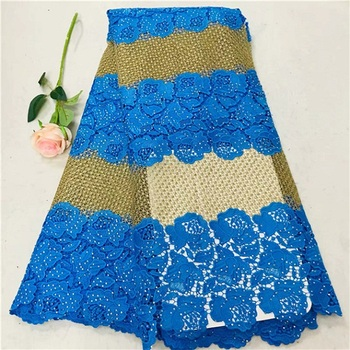 African Lace Fabric 2019 High Quality Lace Nigerian Lace Fabric With Stones Embroidery Tulle French Lace Women Dress(WDLY-1-19