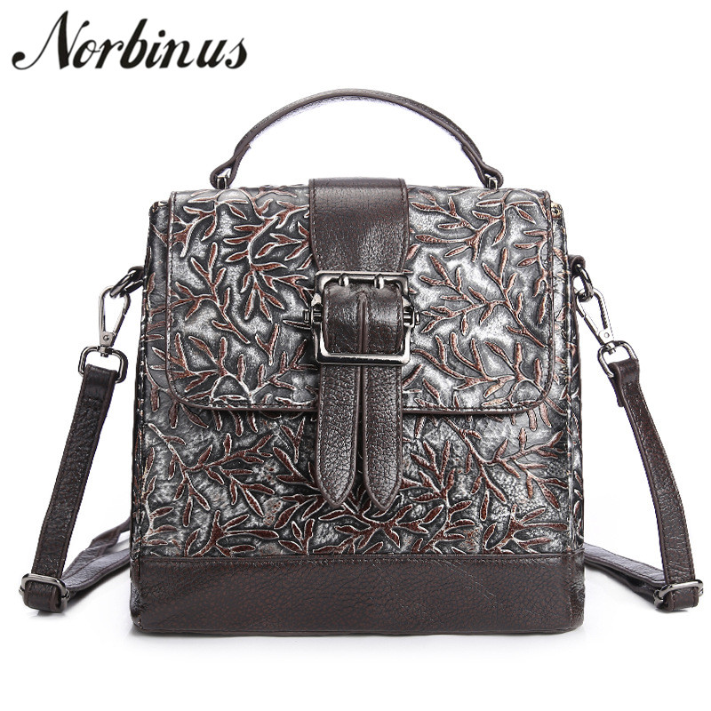 Norbinus Women Messenger Bags Genuine Leather Shoulder Bag 2018 Luxury Brand Designer Handbags Female Casual Tote Crossbody Bags 2018 luxury handbags women bags designer brand chain evening clutch bag female messenger crossbody shoulder tote bags women