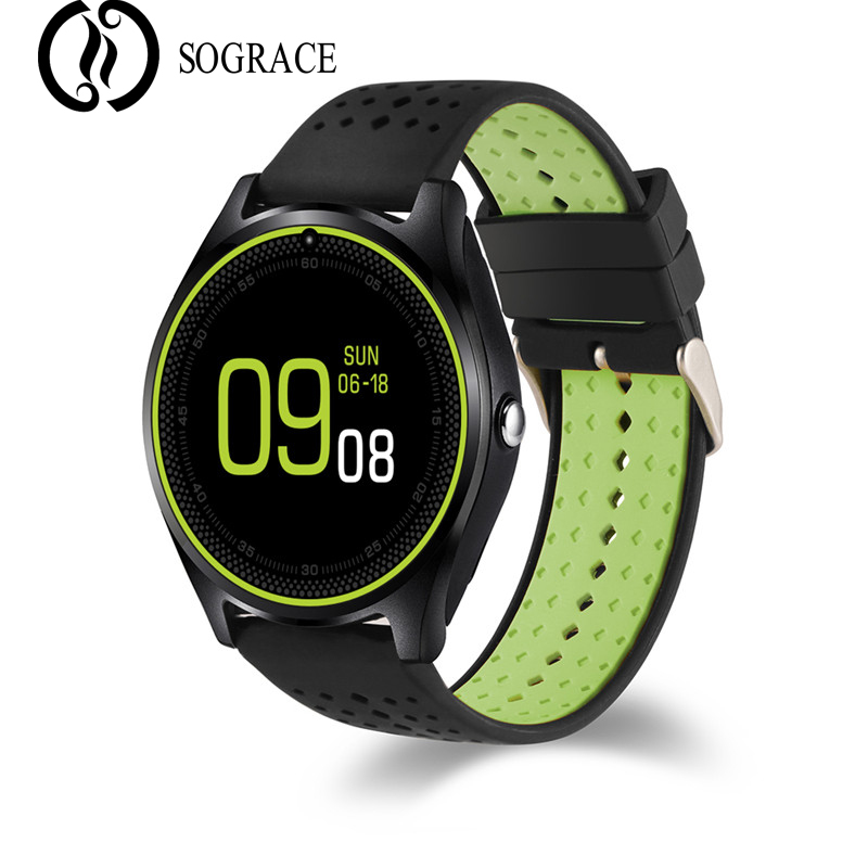 SOGRACE V10 Smart Watches Bluetooth Answer Call Camera Anti-lost Sedentary Reminder 32G TF Music Connect Android Watch Phone SIM