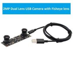 1080 P Aptina AR0330 z dwoma obiektywami szeroki kąt moduł kamery USB z 180 stopni obiektyw typu rybie oko dla 3D VR projekt