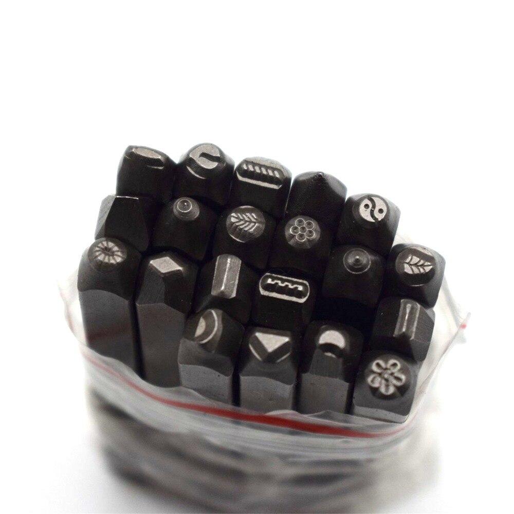 36pcs NUMBER /& ALPHABET LETTER Metal Stamp Punch set Tool Die Marker wood Craft
