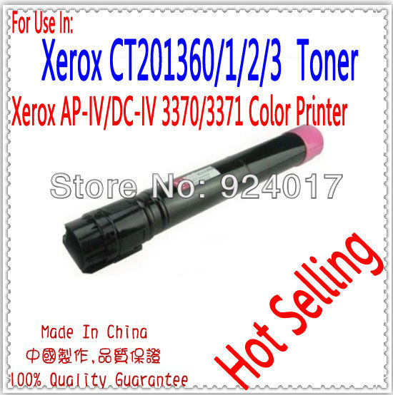 Refill Toner For Fuji  Xerox ApeosPort-IV 3370 3375 Laser Printer,CT201360/1/2/3 Toner Cartridge For Xerox DC-IV 3370 Printer ct350823 ct350826 drum cartridge chip for xerox docucentre iv c2260 c2263 c2265 color laser printer toner jp version for japan
