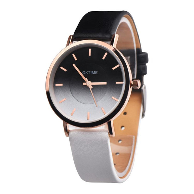 New Rainbow Clock Watches Women brand Fashion dress ladies Watches Leather women