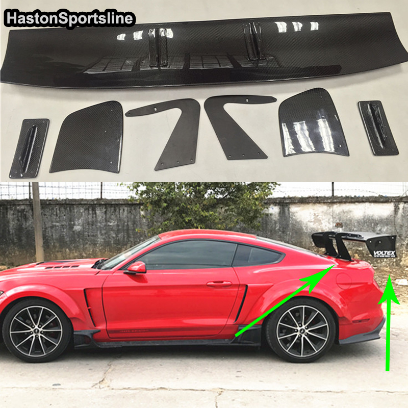 Auto Parts Coupons >> Mustang Voltex Style Carbon Fiber Rear Body Kit Trunk Spoiler Wing for Ford Mustang 2015 2017 ...
