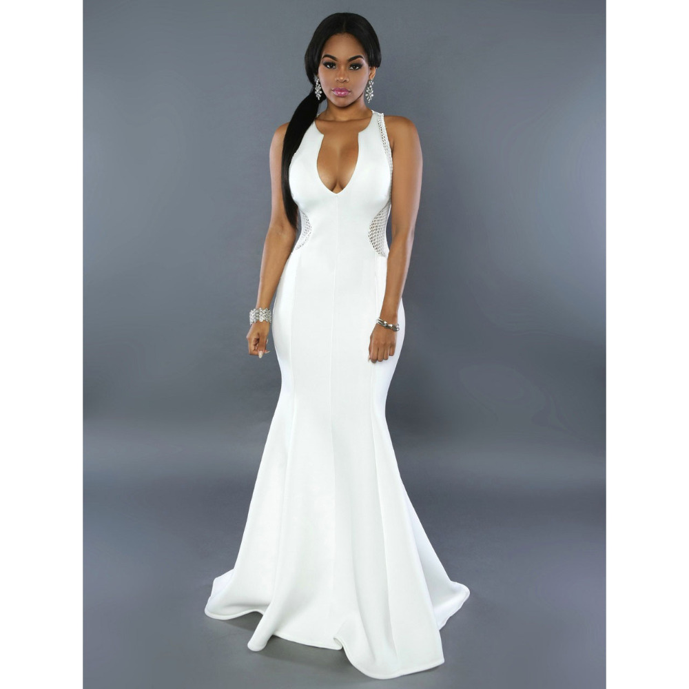 Online Get Cheap Long White Dresses for Prom -Aliexpress.com ...