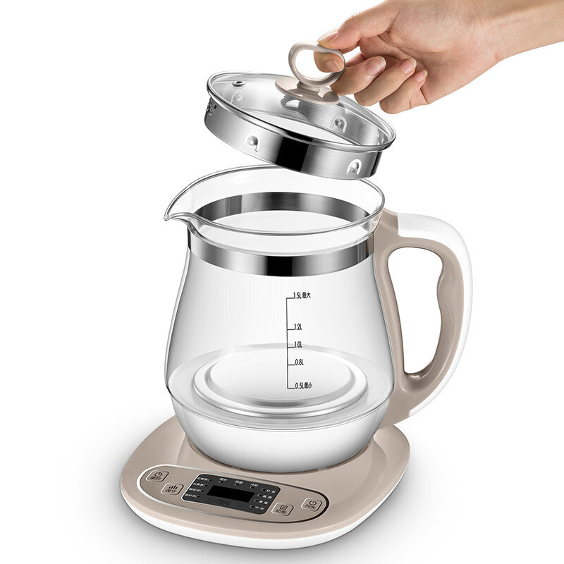 лучшая цена Health pot full automatic thickening glass multi-functional boiling water electric kettle medicine