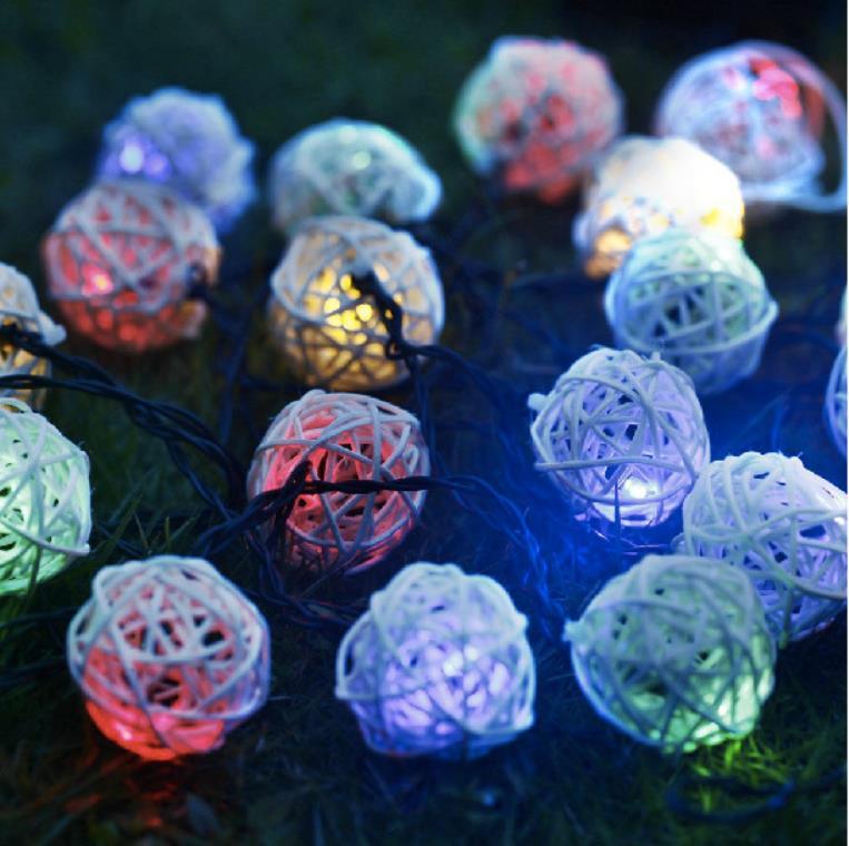 20 шт./компл. LED Питание от аккумулятора Кане Бал строки, фея twinkle луковицы вечеринки, свадьбы, home Decor (2 шт./лот)