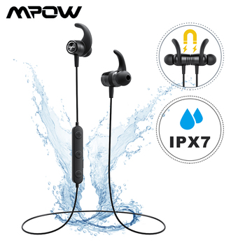 Mpow S10 Bluetooth Wireless Earphone IPX7 Waterproof Sport Earphones Handsfree Headset With Noise Canceling Microphone For Gym