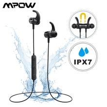 Mpow S10 Bluetooth Wireless Earphone IPX7 Waterproof Sport Earphones Handsfree Headset With Noise Canceling Microphone For Gym