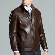 Men's Brand Winter Leather Jacket high quality Business Casual Slim Male leather