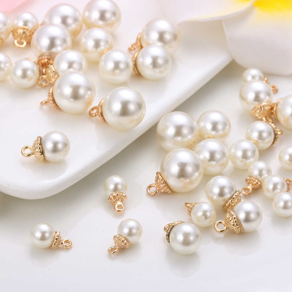 10Pcs/Set Alloy Cryustal Bow Pendant Rhinestones Buttons Pearl Button Jewelry Making Wedding Decor DIY Handmade Accessories