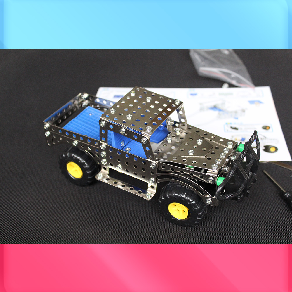 Us Army Action Figures Metal Building Bricks Blocks Military Action Diy Model Car Construction Vehicle Toys Cross Country ksb metal construction toys metal model assembly puzzle building block set construction vehicle