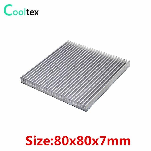 (Специальное предложение) мм 80x80x7 мм алюминий радиатора кулер вентилятор охлаждения для чип электронный рассеивания тепла