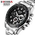 BOSCK 2016 Relojes Hombre Marca Famosa Japón Movt El Acero Inoxidable Negro Militar Relojes Digitales Silicona Reloj Deportivo Hombre Digital