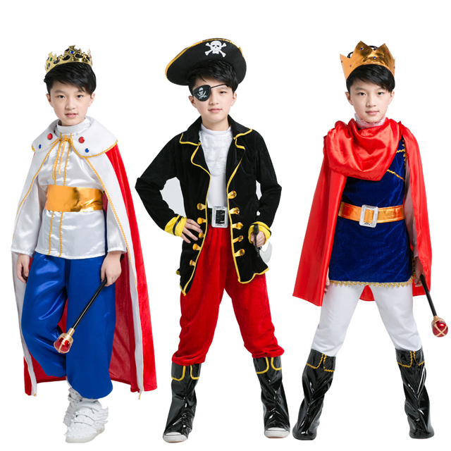 1d8427383857 Children's children, prince clothing boy clothes pirate captain king  cosplay dress up performance