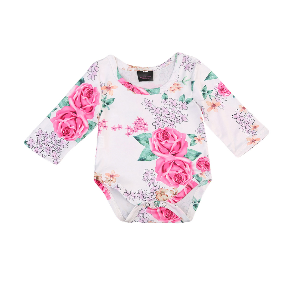 2017 Newborn baby girl romper baby girl long sleeve clothes Floral big rose romper jumpsuit Autumn Baby girl clothing
