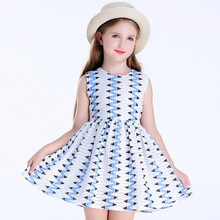 Spring and Summer New Kids' striped cute Dresses, Girls' Printed Cotton Dresses, Holiday Beach Dresses Factory Wholesale children s dresses new girls dresses printed rural children s beach dresses holiday wind factory direct sales spot