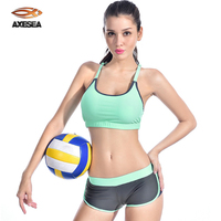 New Women Sexy Elastic Tights Sports Suit Fitness Body Building Beachwear Halter Two Piece Swimsuit Running