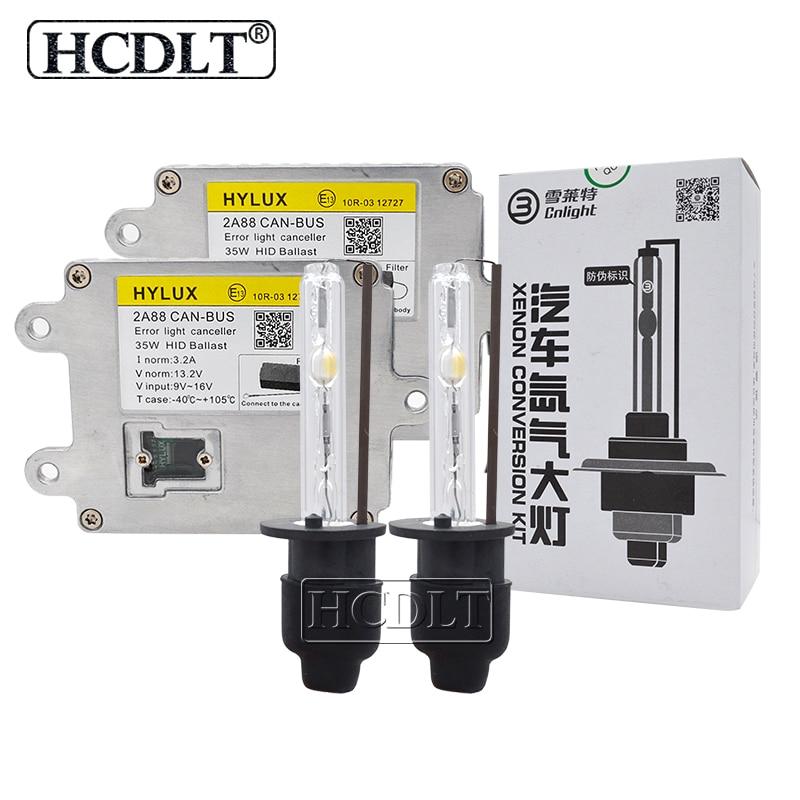 HCDLT 4300 K 5000 K 6000 K Canbus kit hid Xenon H1 H3 H7 H11 HB3 HB4 9012 D2H Cnlight lampe au xénon ampoule 35 W Hylux 2A88 Canbus Ballast