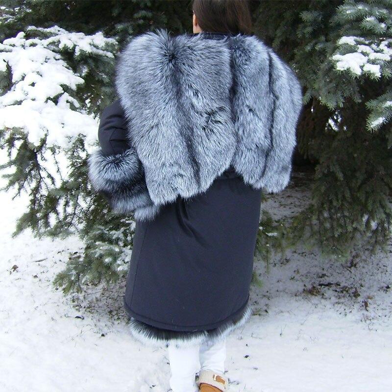 Naturel Fursarcar Veste Capot Silver L'intérieur Liling Mode D'hiver 2018 Parka Luxe Noire Fox Femmes Parkas À De Réel Fourrure pUrp7wHq