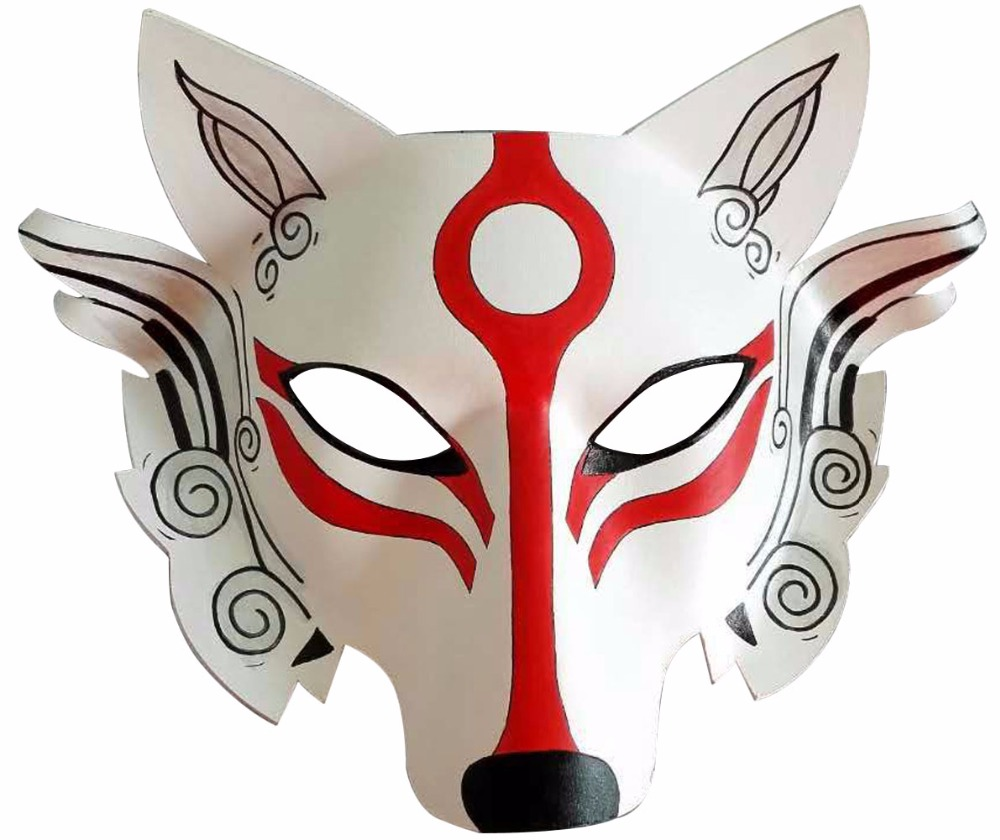 Japanese Samurai Wolf Head Cosplay Mask Half Face Leather Masque Adult Unisex Props Halloween Party Fancy Dress Ball стоимость