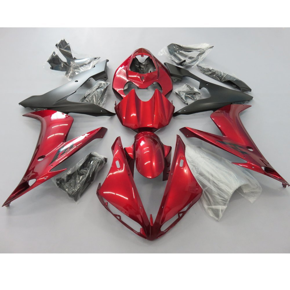 Motorcycle Injection molding Full Fairing for Yamaha R1 YZF YZFR1 2004 2005 2006 YZF-R1 04-06 Fairings Cowl Deep Red & Black full set 3pcs motorcycle new black gold 320mm 220mm front rear brake discs rotors rotor for yamaha yzf r1 2004 2005 2006 04 06
